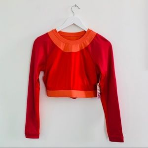 Joy Lab Cropped Cut-Out Long-Sleeve Workout Top